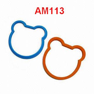AM113 Cetakan Telur Mata Sapi Pancake Omelet Telur Dadar Silikon Beruang