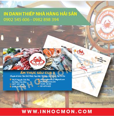 Danh thiếp nhà hàng 6 Cua Hóc Môn