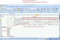 Langkah 2 : Menyeting Jadwal Perkaryawan di Exel Fingerspot Personnel