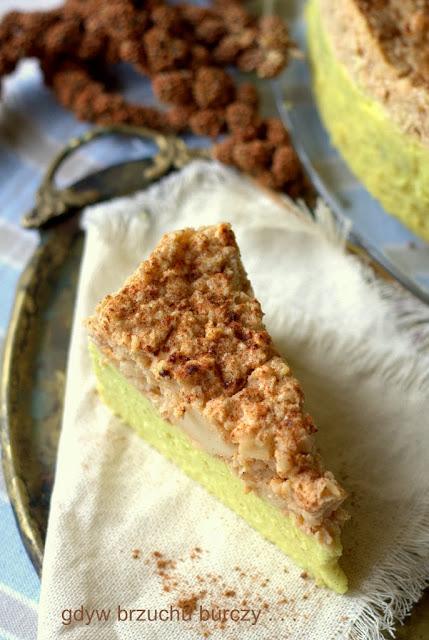 ciasto jaglane z jabłkami i kokosem