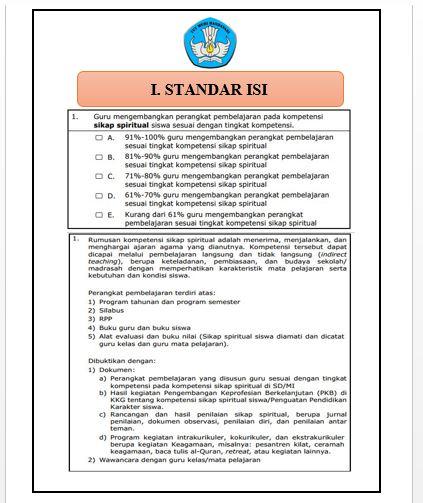 Download Cover/Sampul/Label Map Akreditasi Sekolah SD I Standar Isi Nomor 1-10 Format Microsoft Word