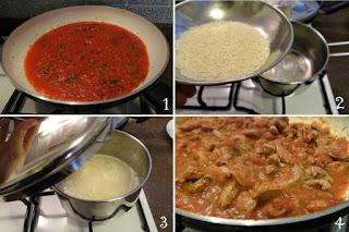 foto Ricetta carne alla pizzaiola con riso basmati pilaf per bambini