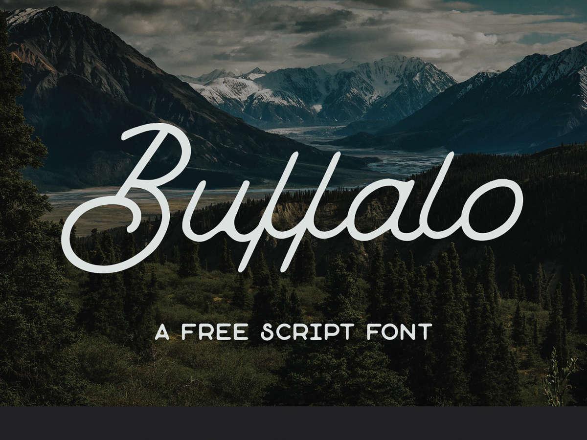 20 Script Font Terbaik 2016 - Buffalo Scrift