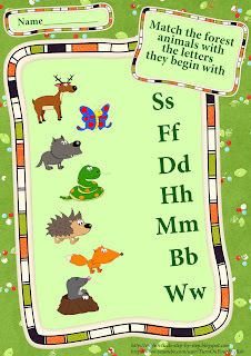 forest animals worksheet for learning English