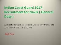 Indian Coast Guard - Recruitment for Navik