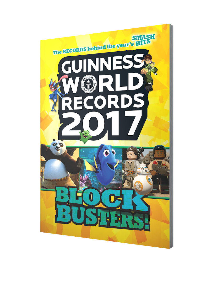 Guinness World Records 2017 Blockbusters Book Front Cover