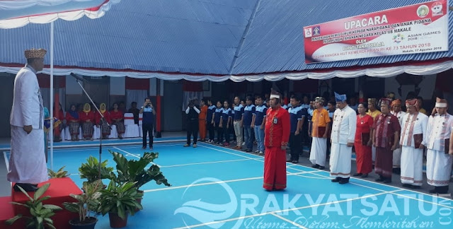 Wabup Tana Toraja Pimpin Upacara di Rutan Makale, 66 Napi Terima Remisi