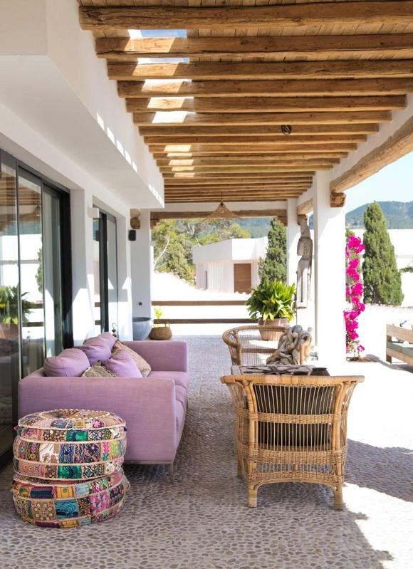 Decoración de una villa en Ibiza chicanddeco