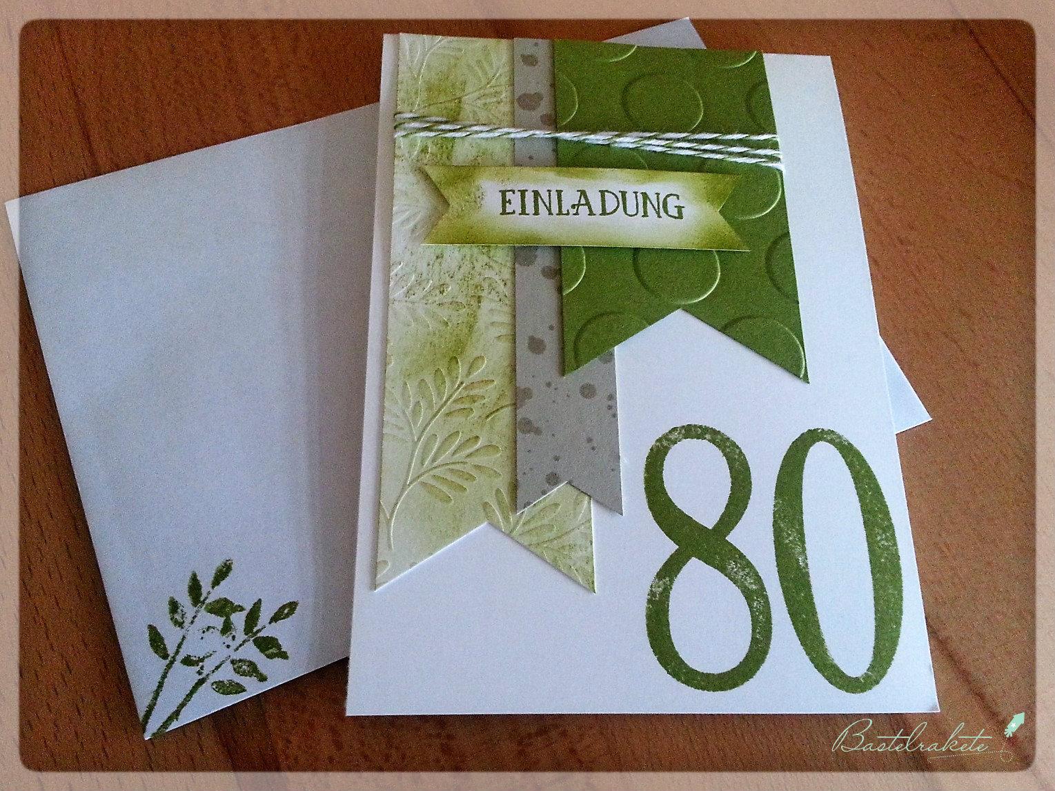 Einladungskarte 80. Geburtstag