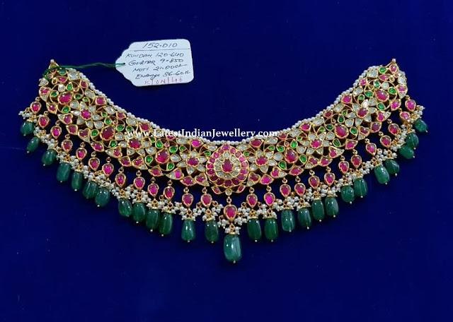 Floral Design Kundan Choker