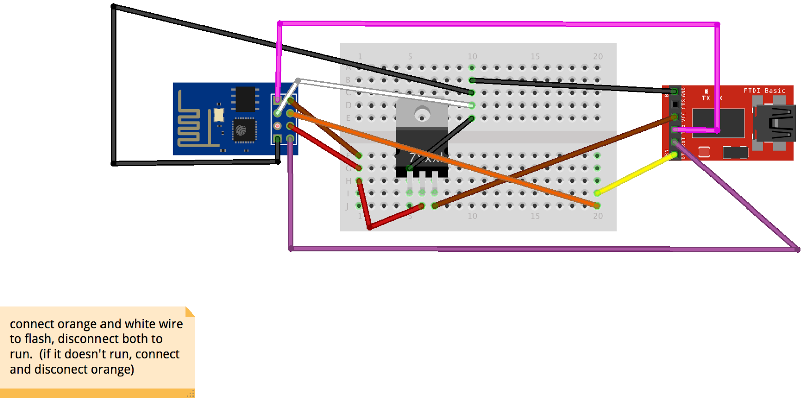 Getting started with the ESP8266-01 wifi and CP2102 USB to UART