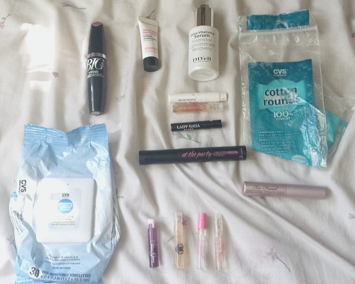 May 2016 empties, cvs makeup remover towelettes, d'dell extra vitalizing serum, cvs cotton rounds, too faced better tan sex mascara, ladykin at the part long & perm mascara, avon big & daring volumizing mascara, sephora instant moisturizer + cream reviews