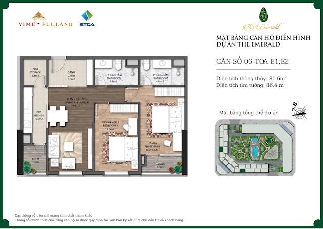 Thiết kế căn hộ The Emerald