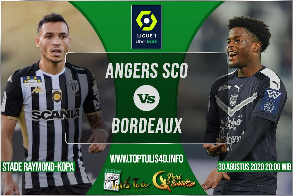 Prediksi Angers SCO vs Bordeaux 30 Agustus 2020