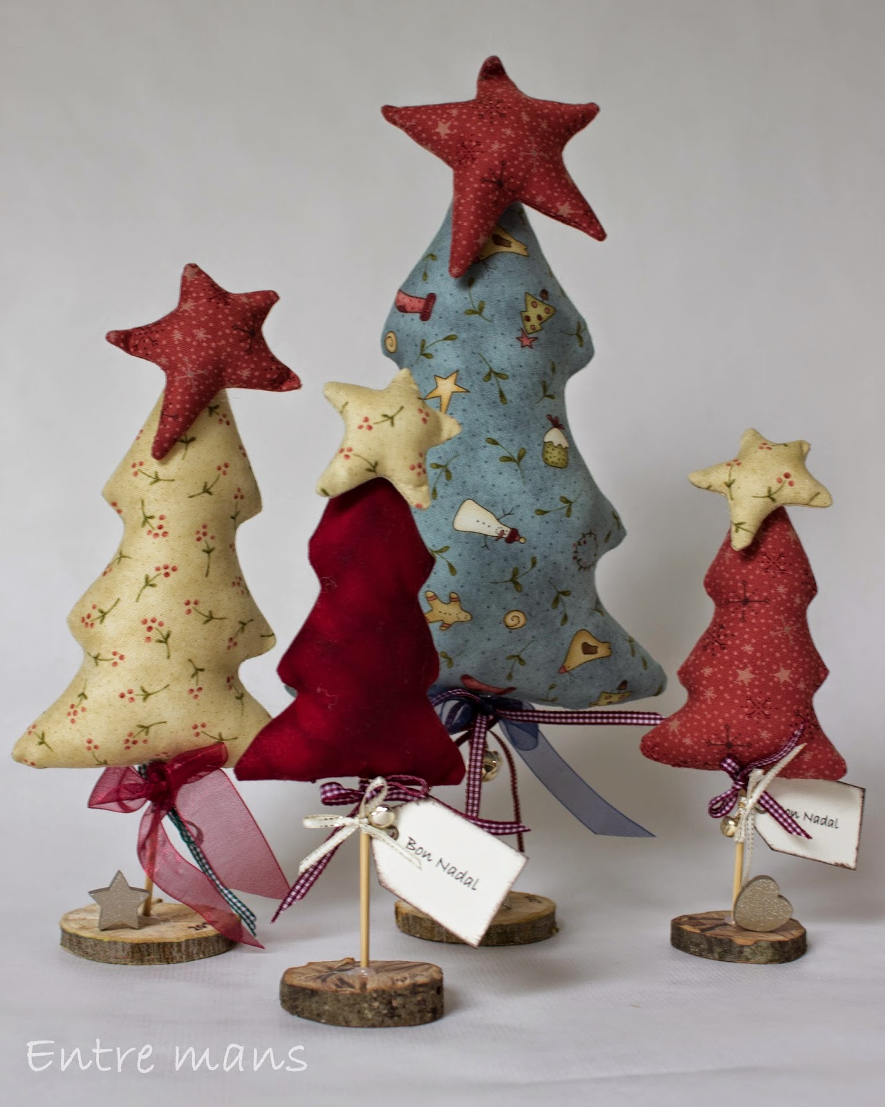Entre mans arbol de navidad patchwork for Decoracion navidena manualidades