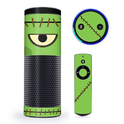 Amazon Echo Frankenstein Skin for Halloween. Here's Mad Franky.