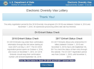Entrant Status Check >> Us Green Card Lottery Electronic Diversity Visa Lottery Update