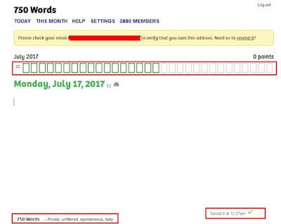 Membiasakan Menulis Setiap Hari dengan 750Words.com