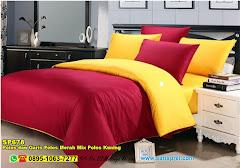 Sprei Custom Polos Dan Garis Polos Merah Mix Polos Kuning