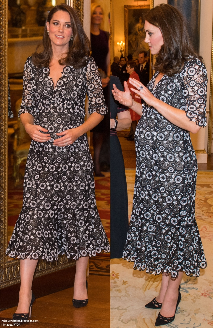Duchess Kate And Sophie Join Forces For Commonwealth Fashion Embroidery Blouse In Blue Beatrice Clothing Floral Lace Takes On An Unexpectedly Graphic Edge Striking Black White The Ultra Flattering Fit Flare Suzi Dress Hits Just Above Knee
