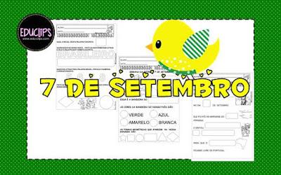 Datas comemorativas, 7 de setembro, Independência do Brasil, Atividades de 1º ano, Atividades de 2º ano, História