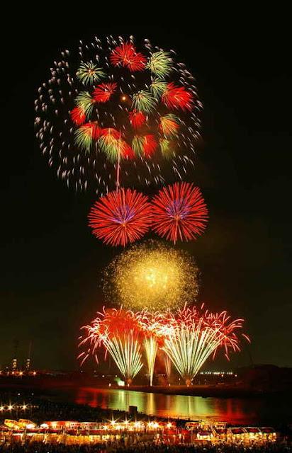 Atsugi Ayu Matsuri & Fireworks Display in Atsugi near Tokyo in Kanagawa Pref.