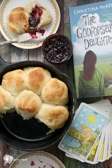 Angel Biscuits and Tipsy Blackberry Jam inspired by The Godforsaken Daughter