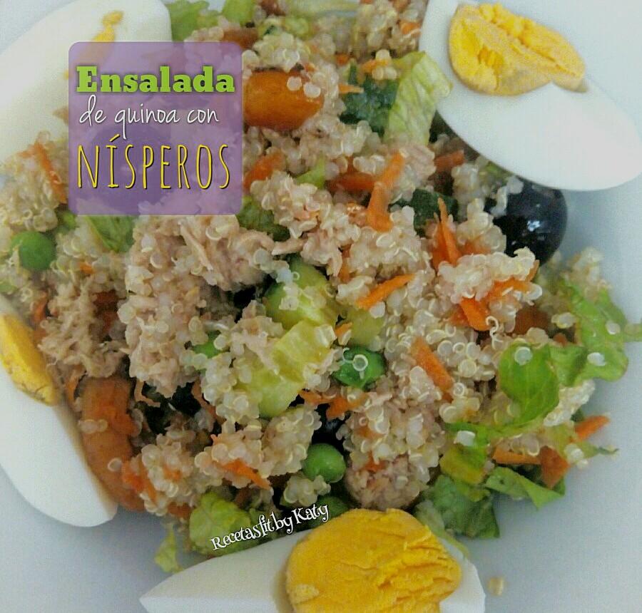 Recetas fit by katy ensalada de quinoa con n speros for Cocinar nisperos