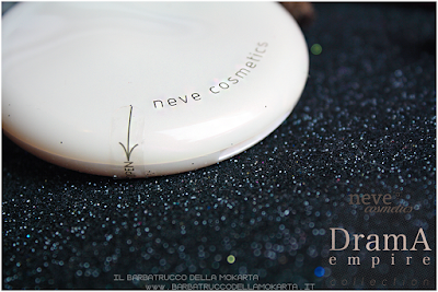 recensione Drama Matte powder, cipria compatta  drama empire collection neve cosmetics