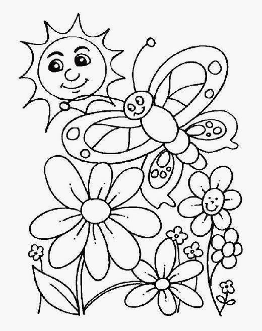 coloring pages about spring - spring coloring pages free coloring sheet