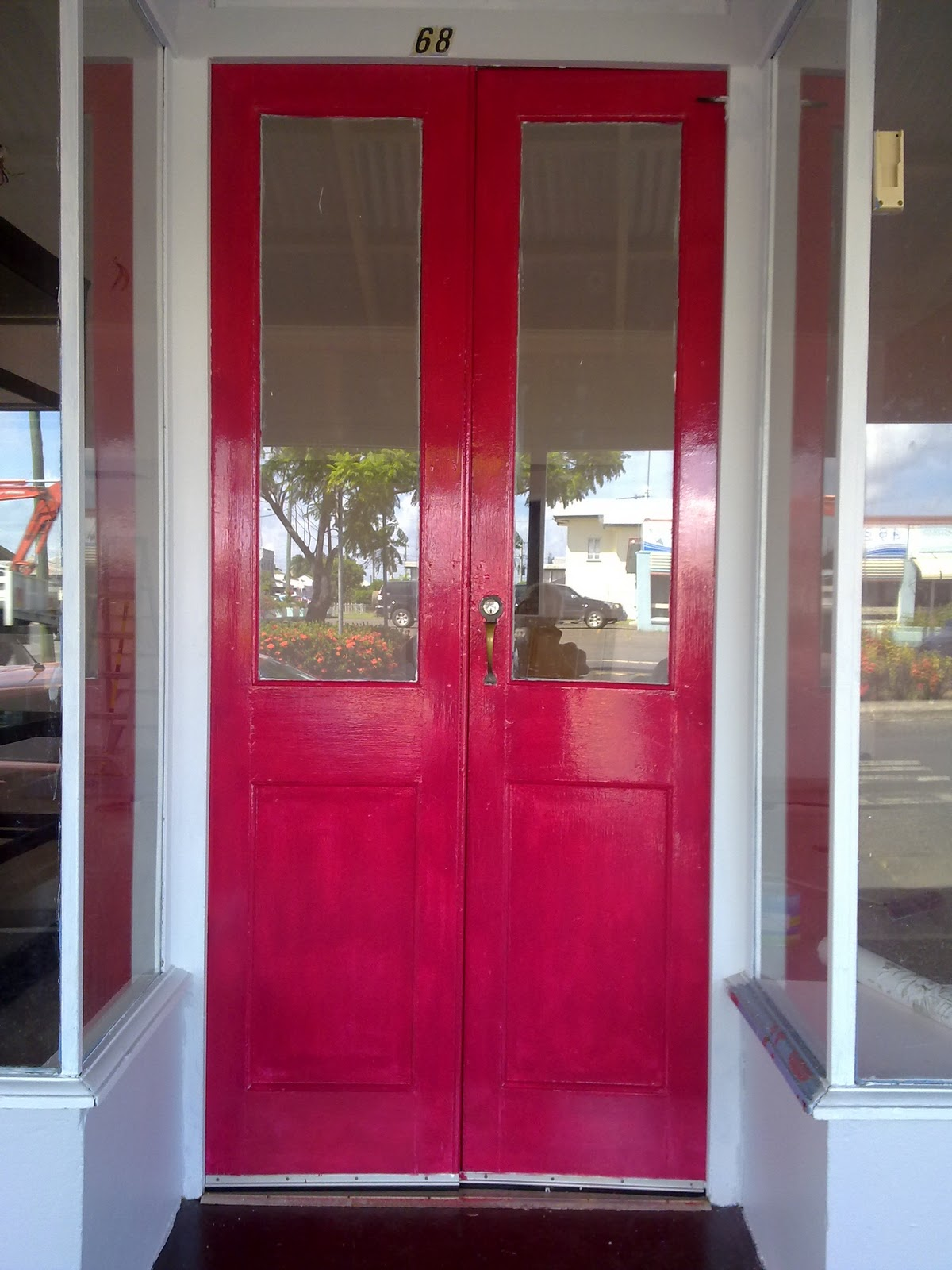 Exquisite Front Entry Doors At Home Depot Fiberglass: Beautiful Interiors And 18th Century Style: Raspberry