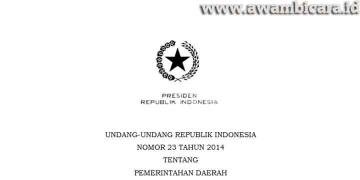 UU No 23 Tahun 2014 dan Perubahannya