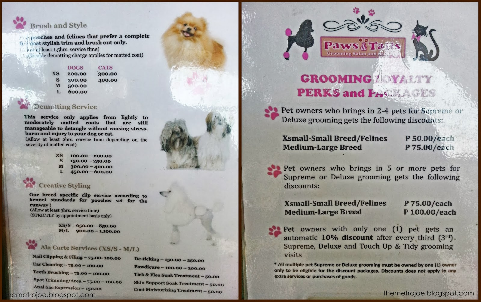 mobile pet grooming near me prices