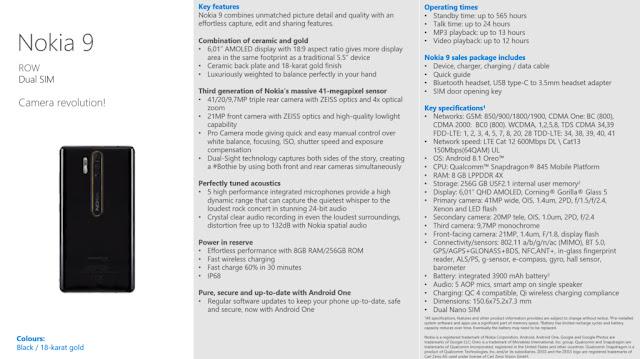 Nokia 9 sẽ có 3 camera tương tự Huawei P20 Pro?