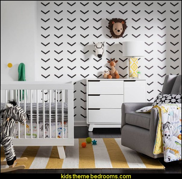 Sabrina Soto Safari Nursery Room modern baby nursery  modern baby nursery - modern kids bedrooms - modern childrens furniture - modern baby bedding - modern home style decorating Mid Century modern decor - Modern baby bedrooms - modern baby girls nursery - modern baby boys nursery - modern baby