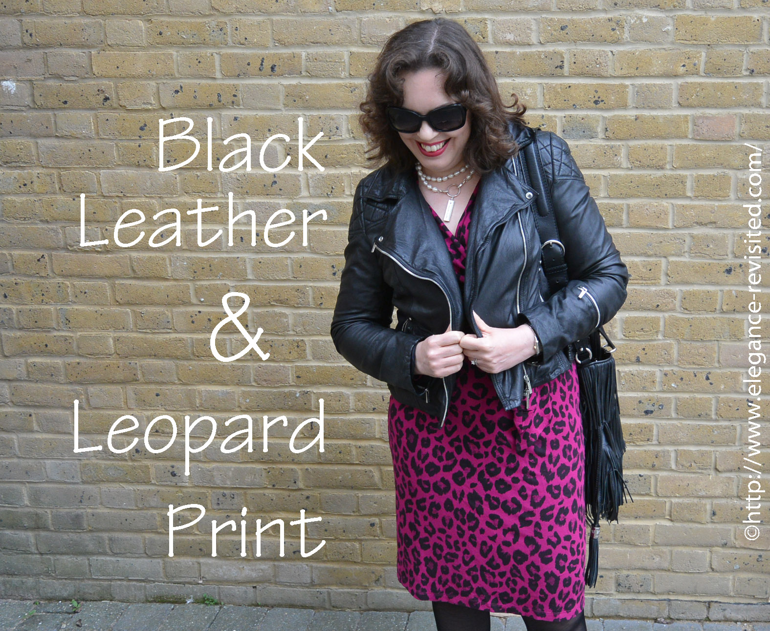leather jacket and leopard print over 40