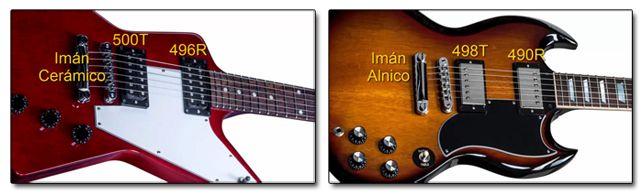 Pastillas Estándar de las Guitarras Eléctricas Gibson Explorer y Flying V