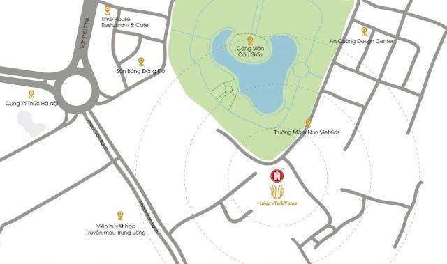 Vị trí dự án Luxury Park View Cầu Giấy