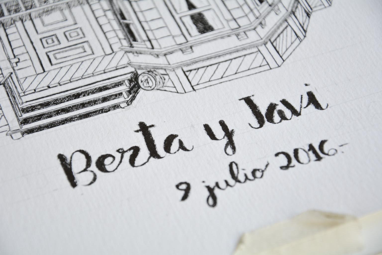 Detalle de caligrafía