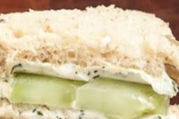 LEMONY CUCUMBER CREAM CHEESE SANDWICHES