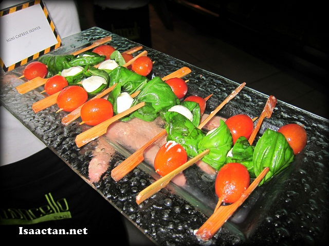 I found these Mini Caprese Skewers rather intriguing