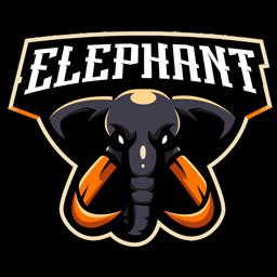 logo gajah esport keren