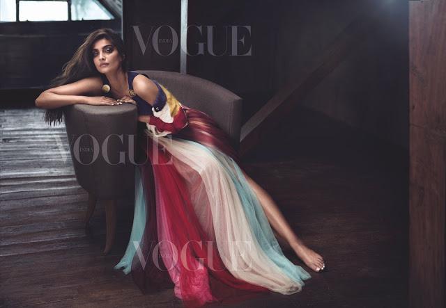Sonam Kapoor Sizzling Hot on New VOGUE Magazine Issue June 2017