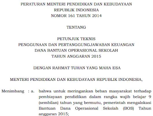 Download Permendikbud No  Tentang Juknis Bos