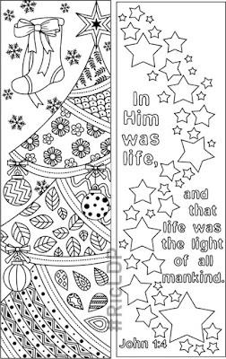 RicLDP Artworks: 9 Christmas Coloring Bookmarks
