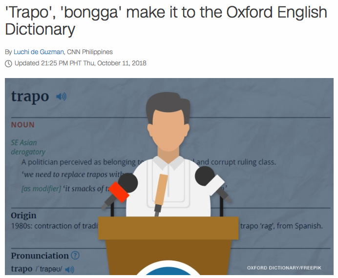 Philippinefails: Filipino-English Words Added to the OED