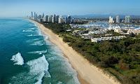 Avustralya kıyıları ve gökdelenler