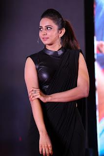 Rakul Preet Singh New Stills In Black Saree