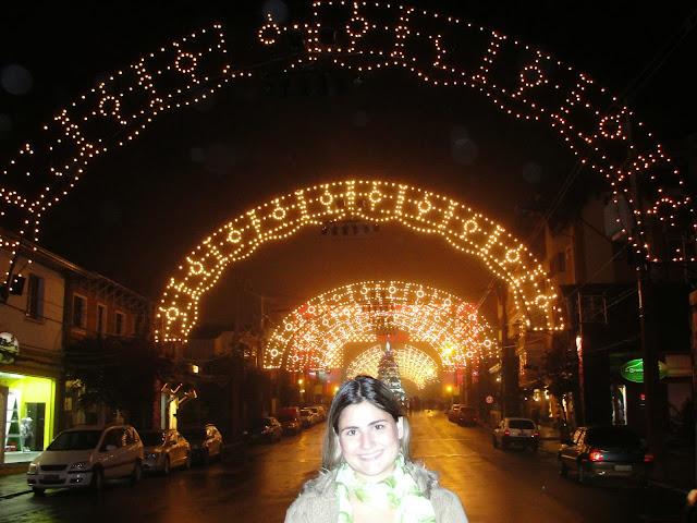 Iluminação natalina nas ruas, Gramado.