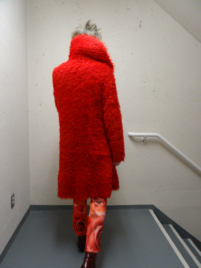 Mel Kobayashi, Bag and a Beret, shaggy red coat